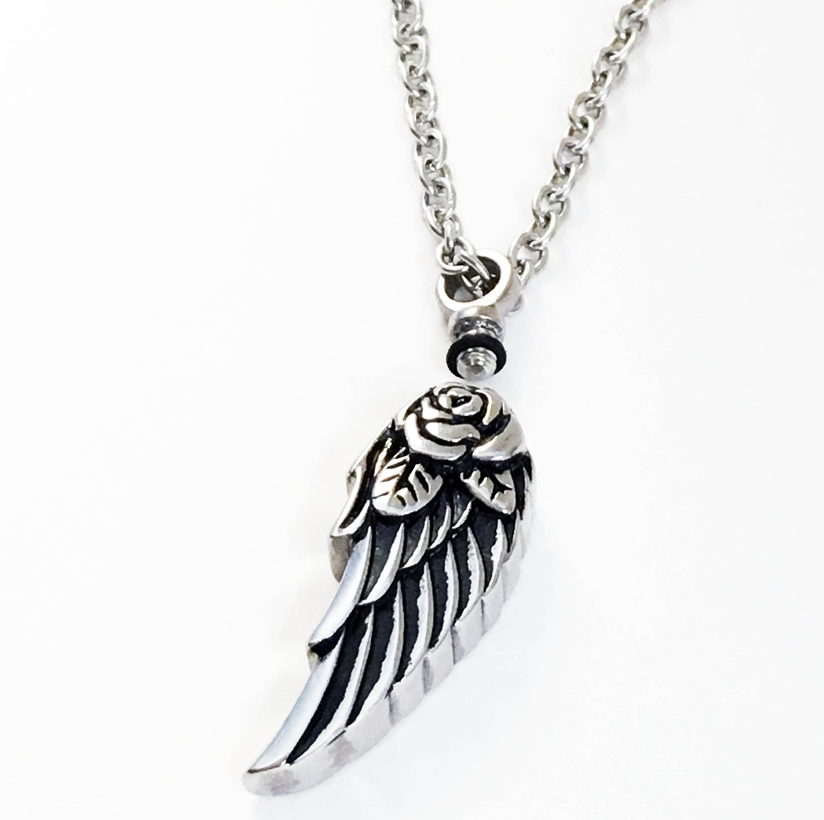 Angel Wing Urn Necklace: Personalized Angel Wing Cremation Necklace