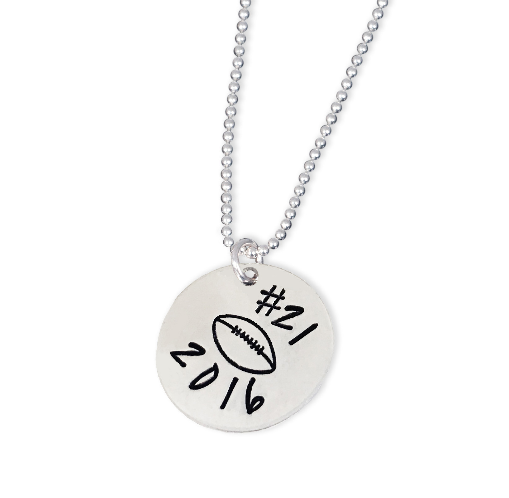 Sterling Personalized Sports Charm Necklace