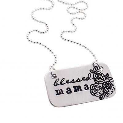 Blessed Mama Sterling Silver Necklace