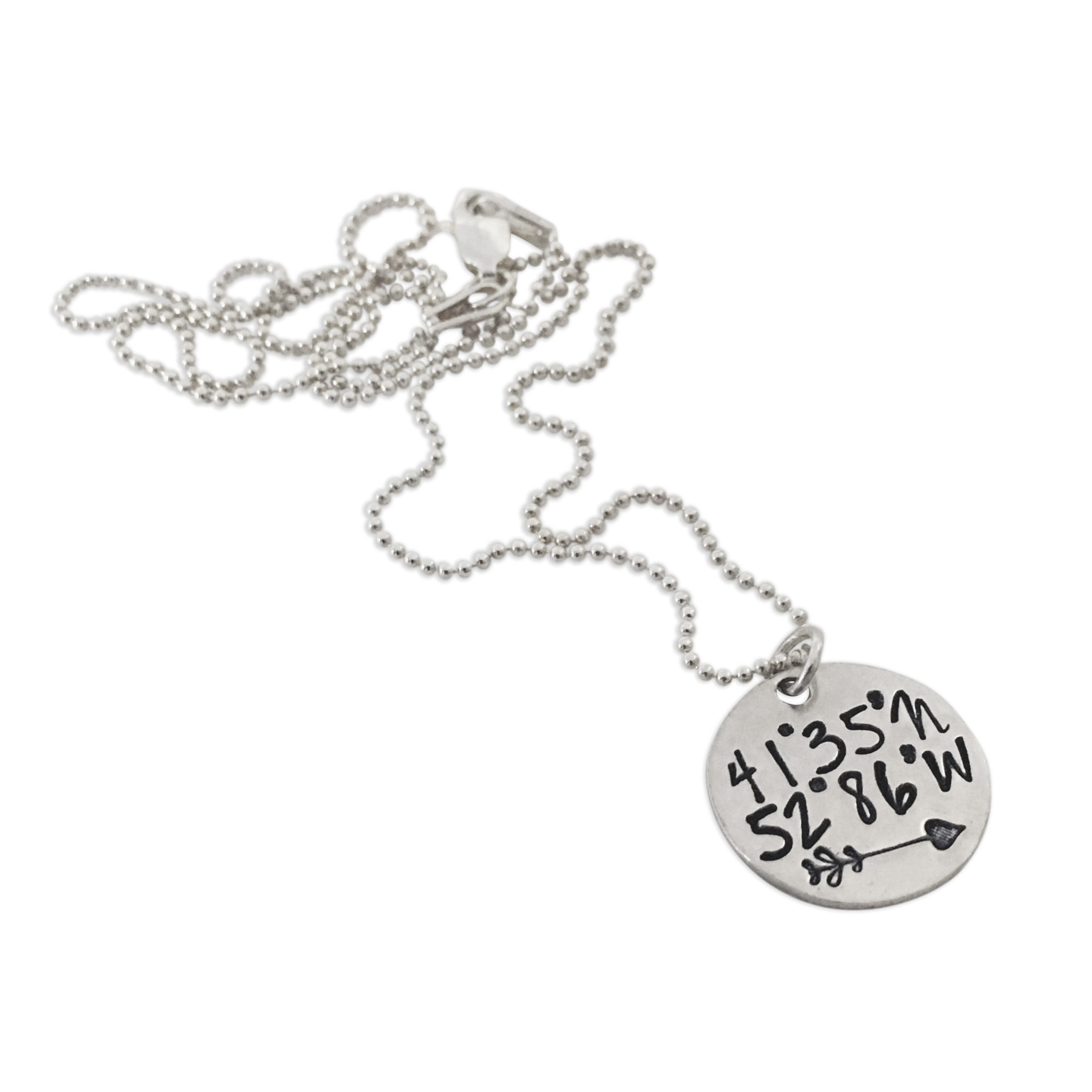 mystic rose soul product mini coordinate dog tag necklace sterling