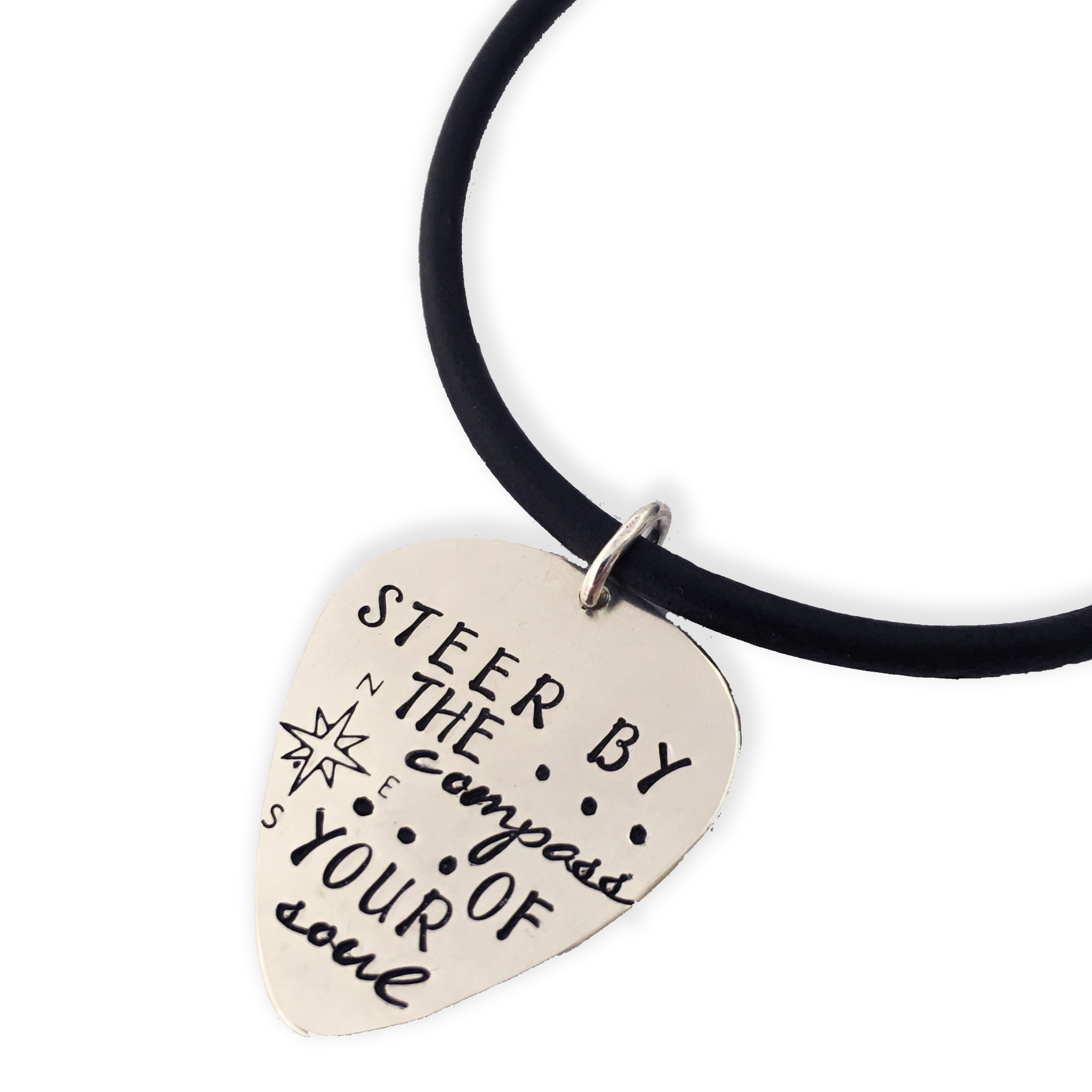 Sterling silver guitar pick necklace resonate collection by mystic sterling silver guitar pick necklace aloadofball Choice Image