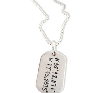 Dog Tag Coordinate Necklace for Him